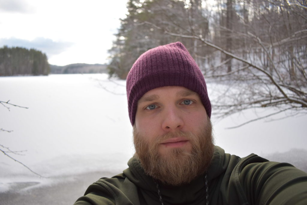Image of me, with the Waconah Resivoir behind me.  A lake this size with zero people on or around it is a real sight to see.