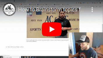How to Brainstorm topics for SEO content